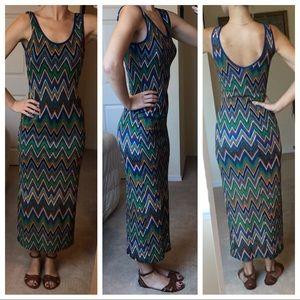 Pattern Maxi Dress - Festival dress- Size Medium